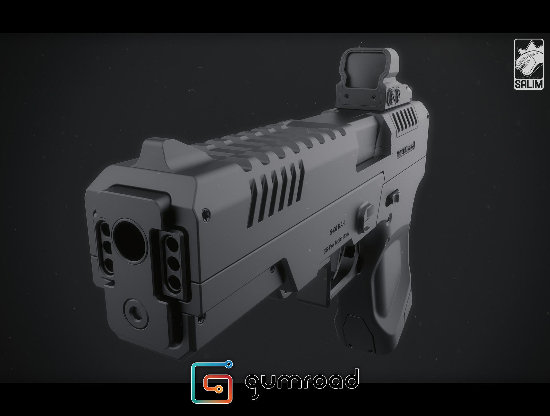 Ljabli salim gun render 03
