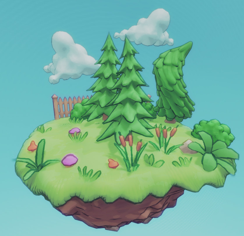 More assets for the cartoon painting style