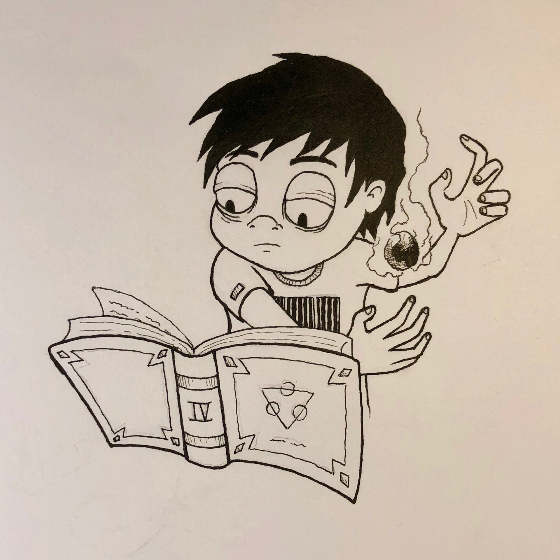Inktober Day 4 - Spell