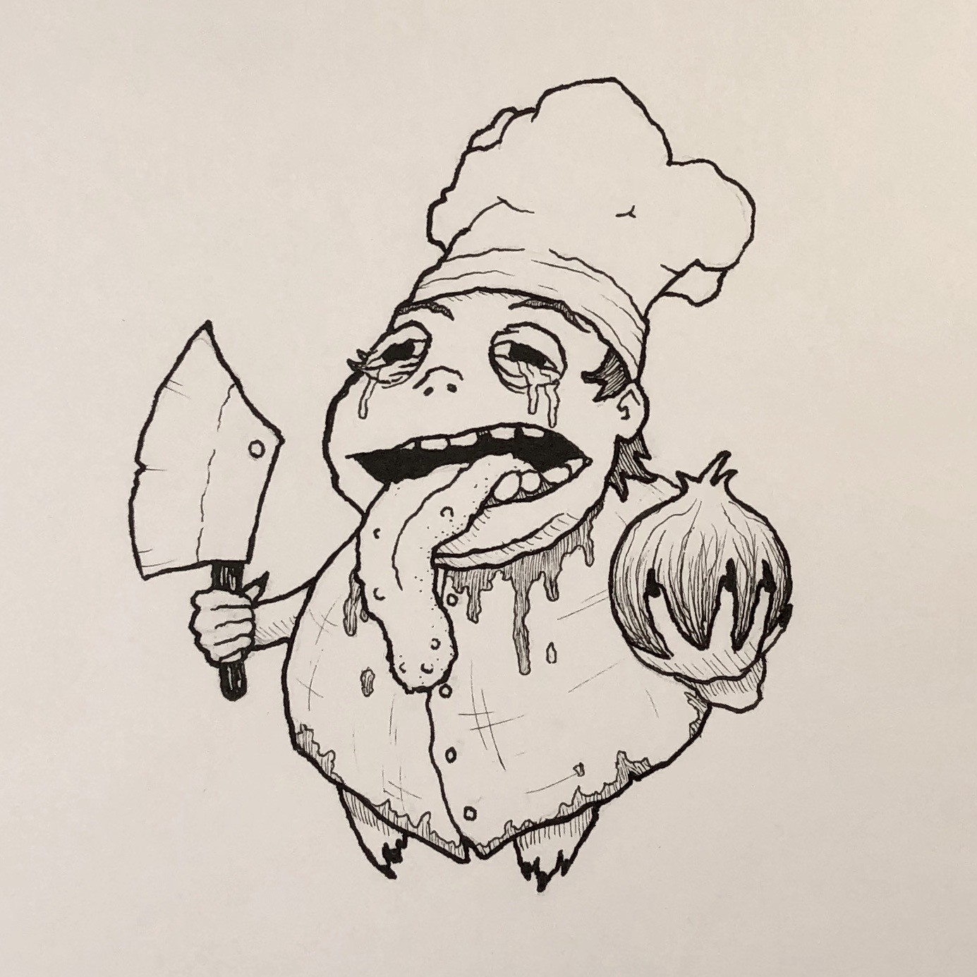 Inktober Day 24 - Chop