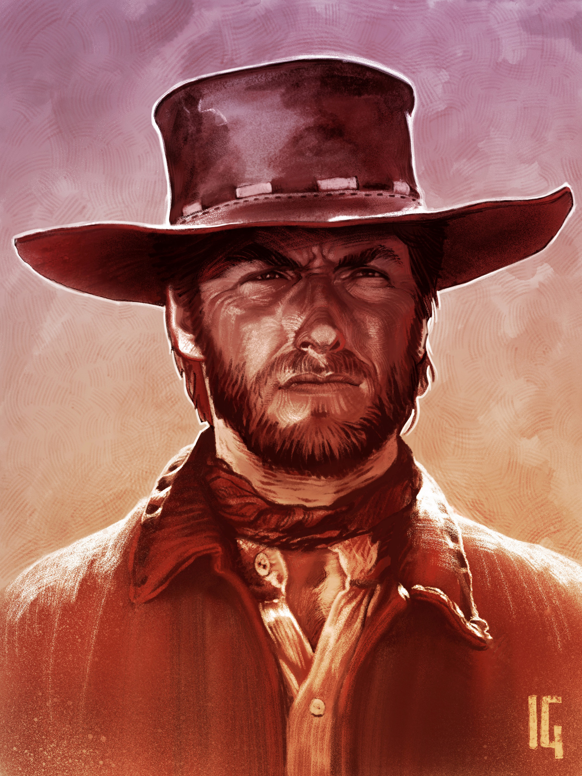 AND THE UGLY ART PRINT THE BAD CLINT EASTWOOD THE GOOD