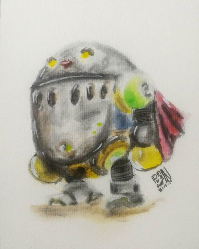 March Of Robots 21 - Ershin - Breath of fire IV. Watercolor.