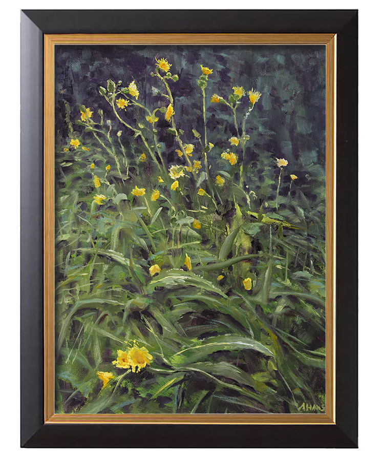 Arthur haas roadside flowers framed small