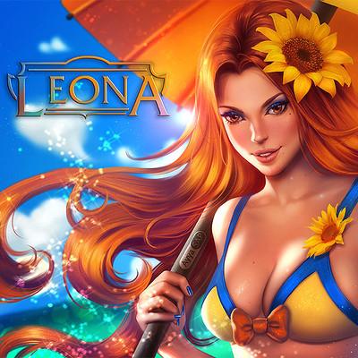 Ayyasap pool party leona commission by ayyasap dc7cili