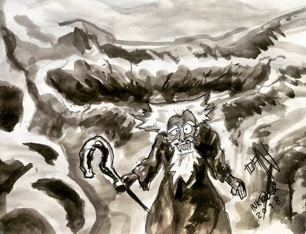 Inktober 2018 - 19: Scorched / Queimado . . . Fanart Dragon Slave - Lina Inverse - Slayers© Hajime Kanzaka / Kadokawa Shoten