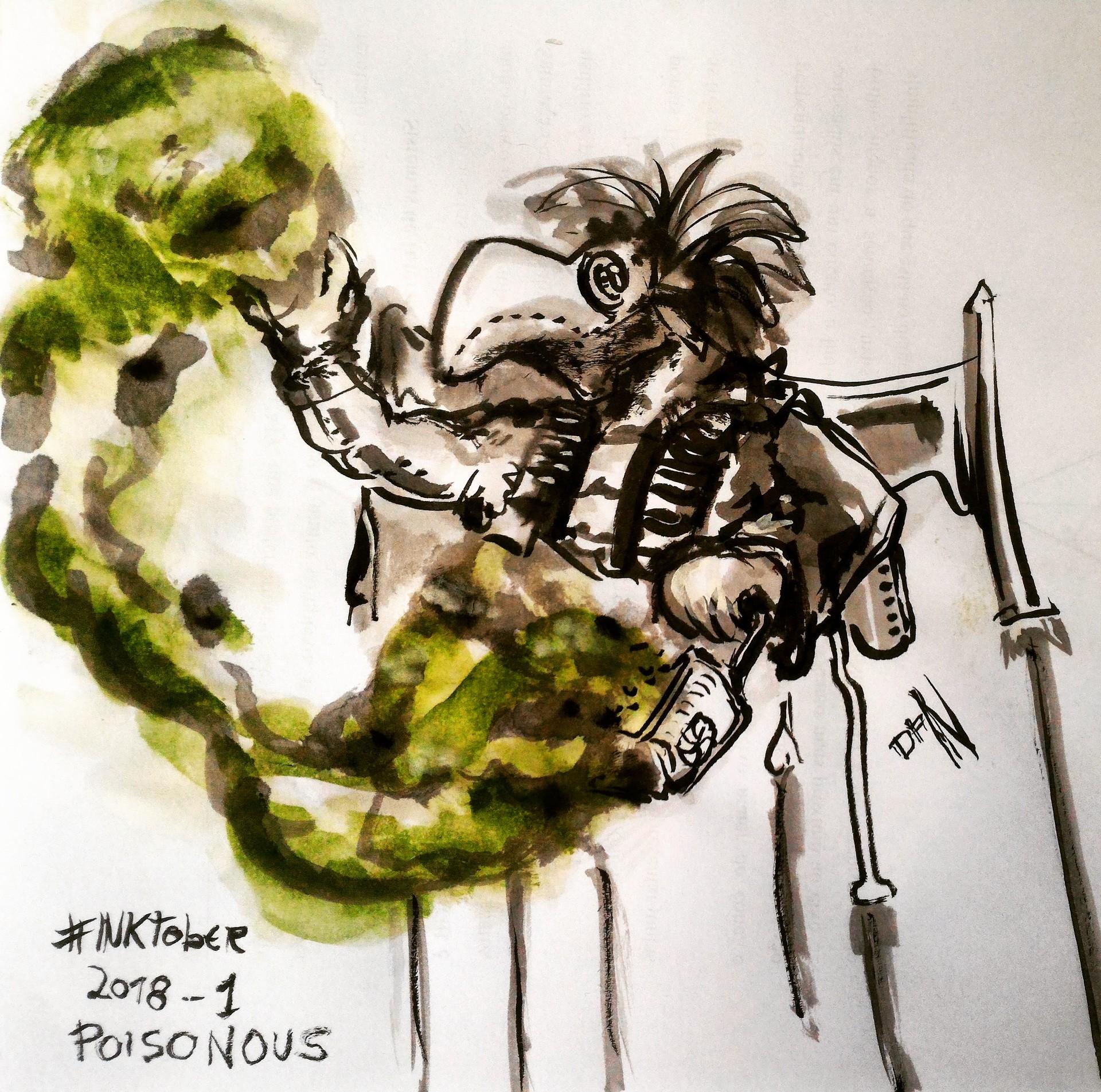 Inktober 2018 - 01: Poisonous / Venenoso