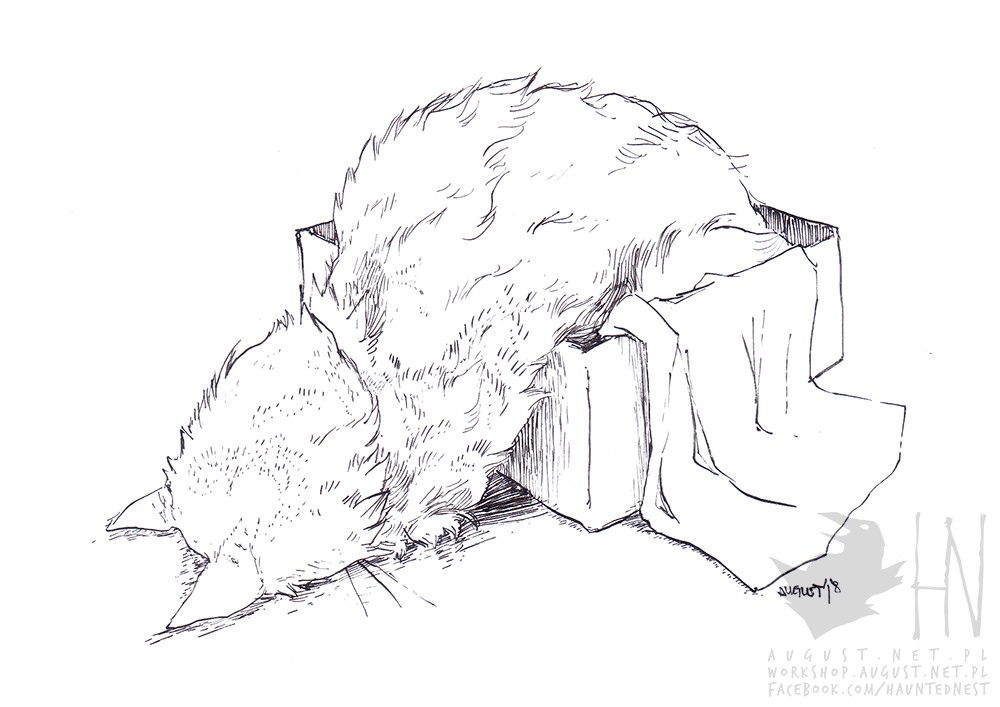 Inktober 2018; Day 7 - Exhausted.