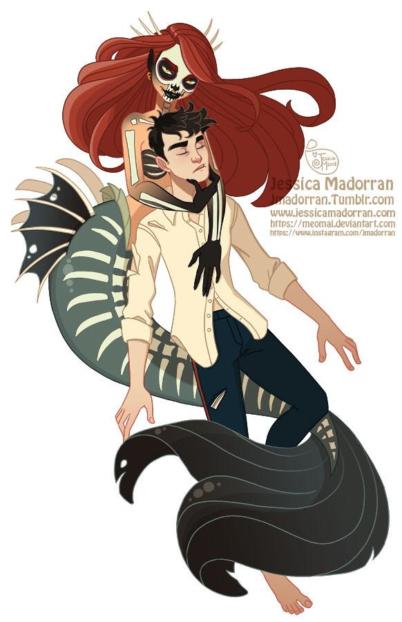 Drawlloween - Little Mermaid with a Twist