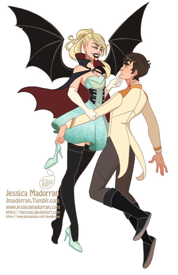 Jessica madorran character design drawlloween cinderella 2018 artstation