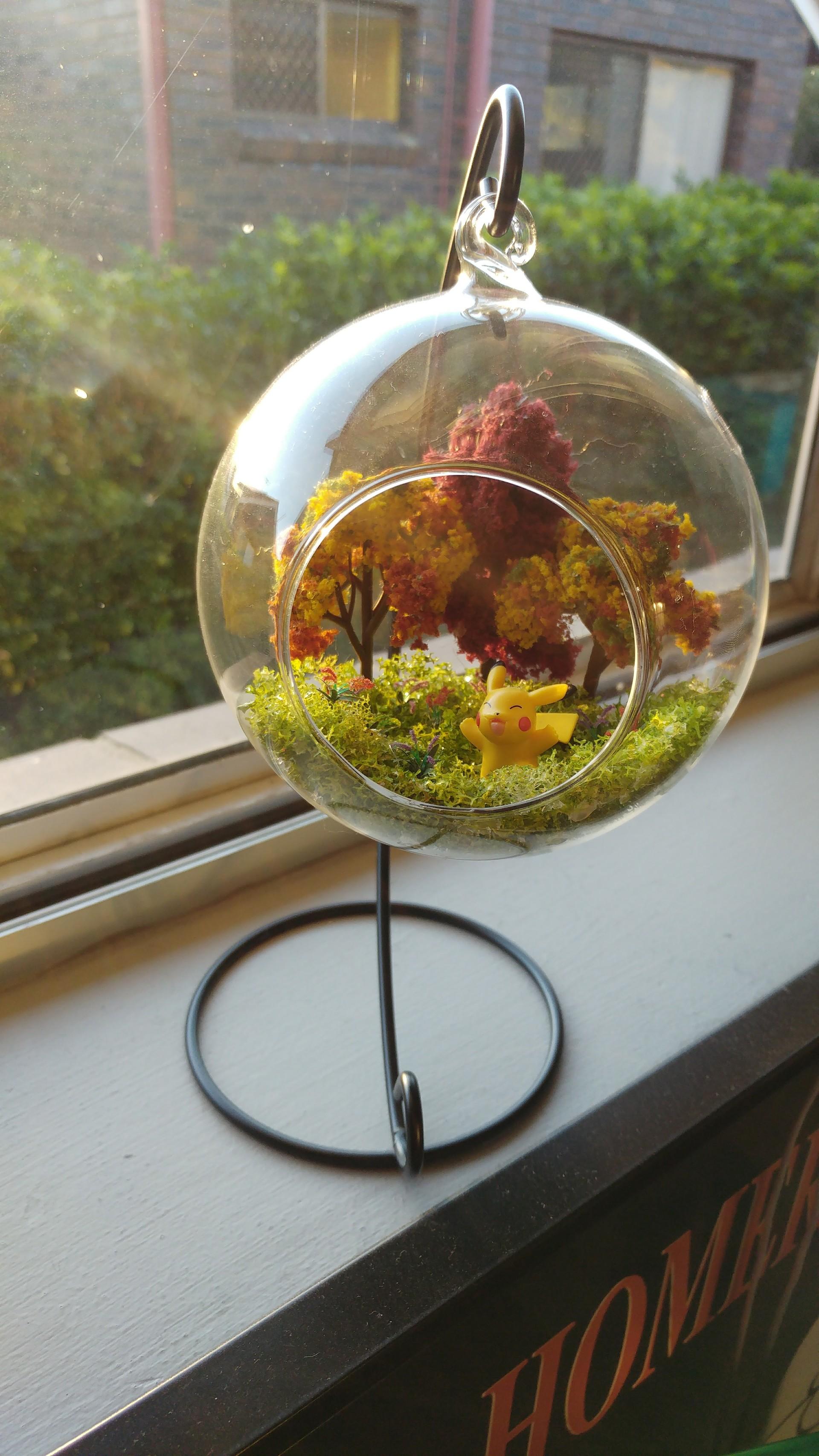 Artstation Pikachu Hanging Terrarium Crystal Goulding