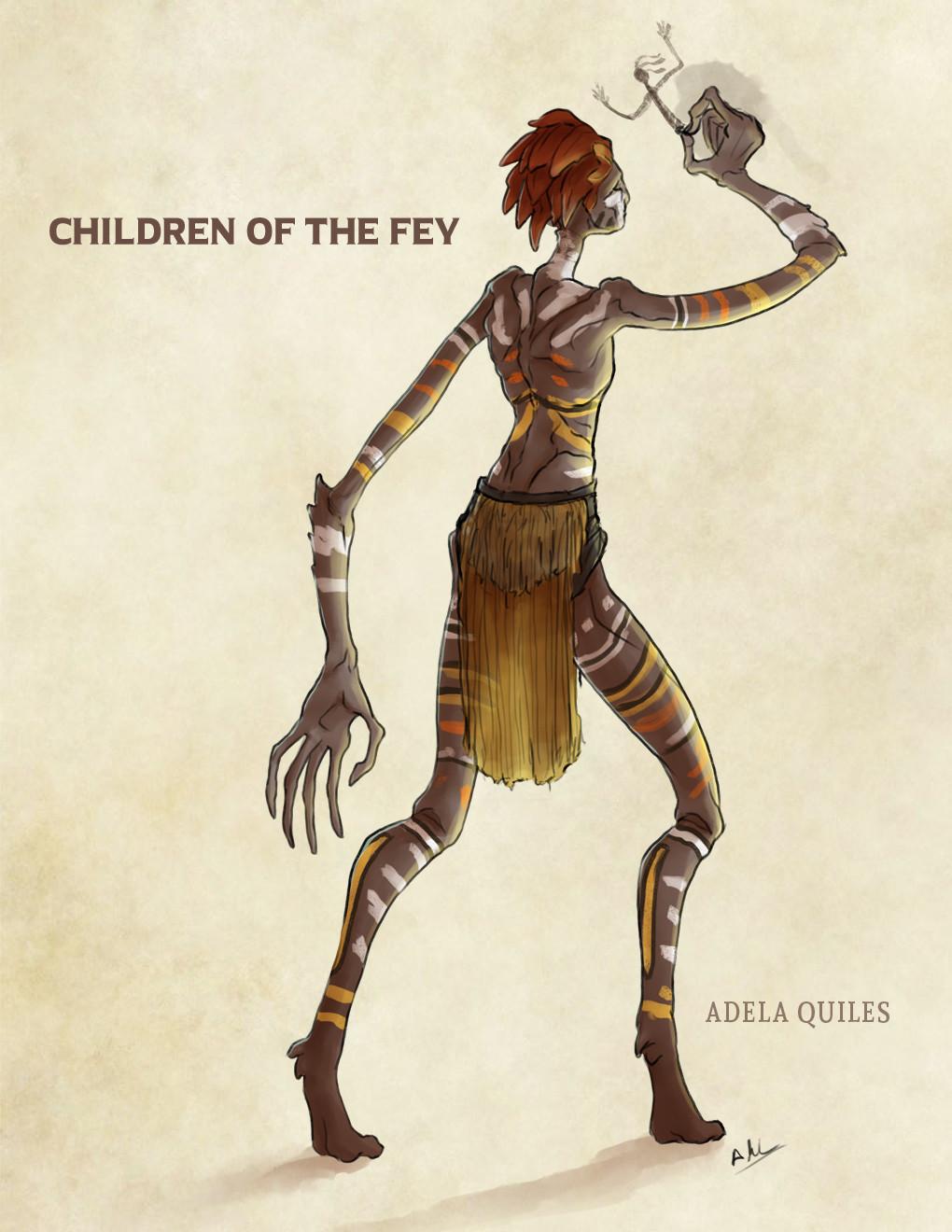 ArtStation - Children of the fey, Adela Quiles