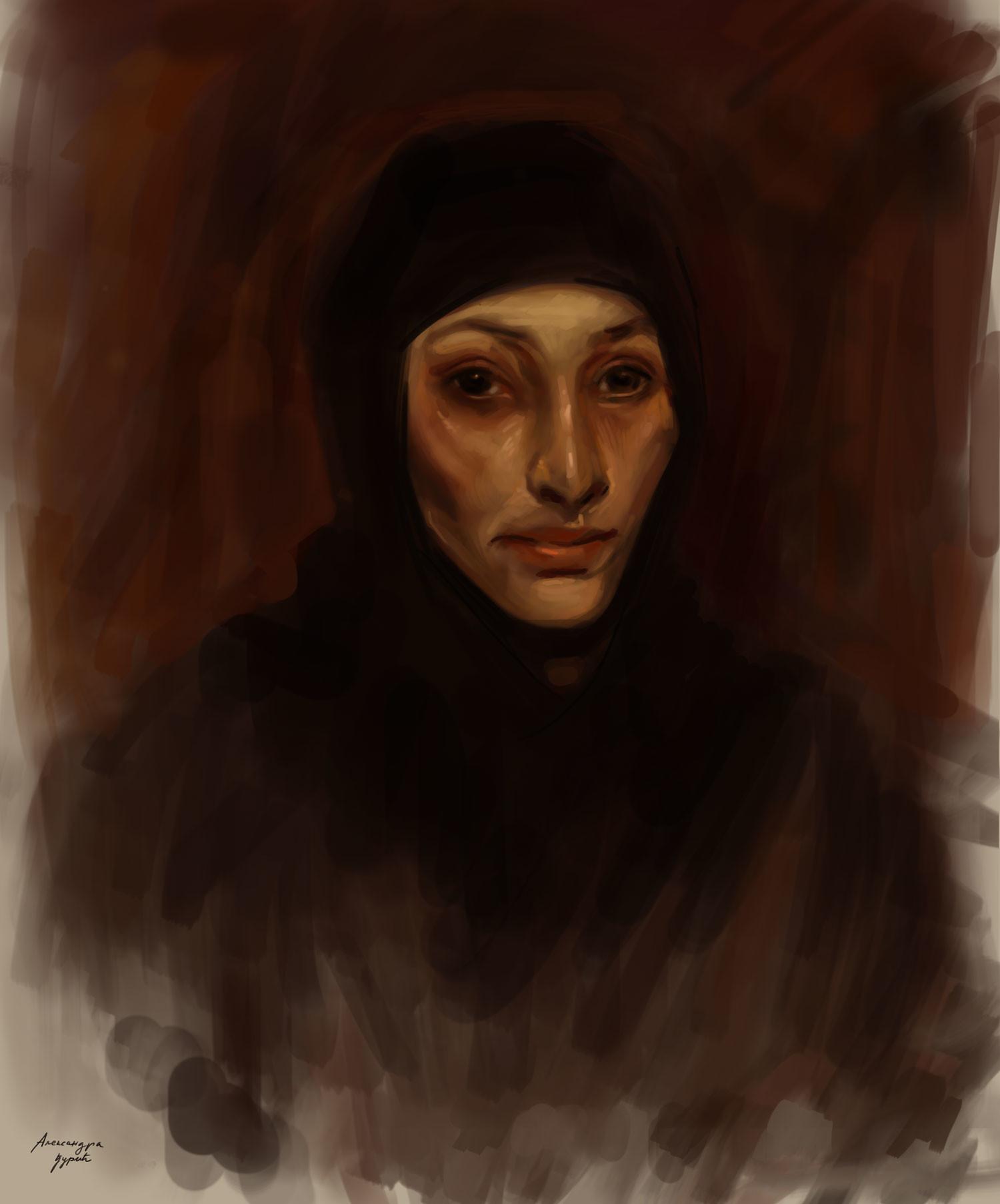 Aleksandra Djuric - An Egyptian woman (reproduction)