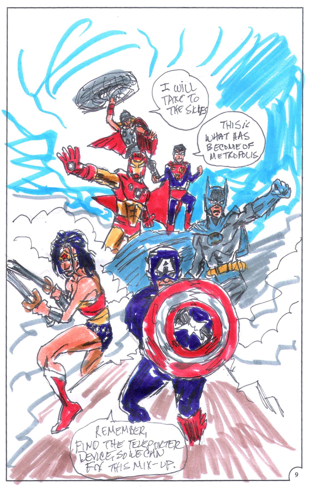 ArtStation - ultimate justice page marvel dc fanfiction art