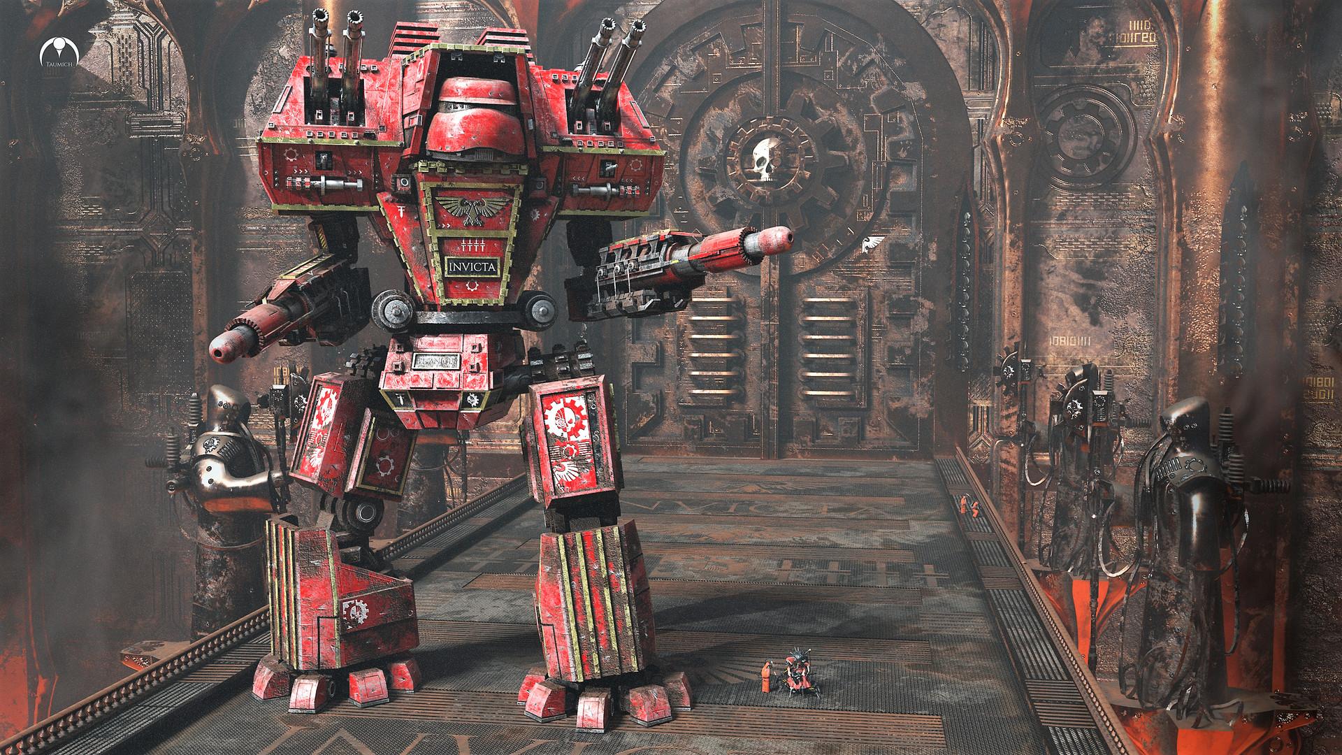 Artstation Warhammer 40 000 Warlord Titan Legio Invicta
