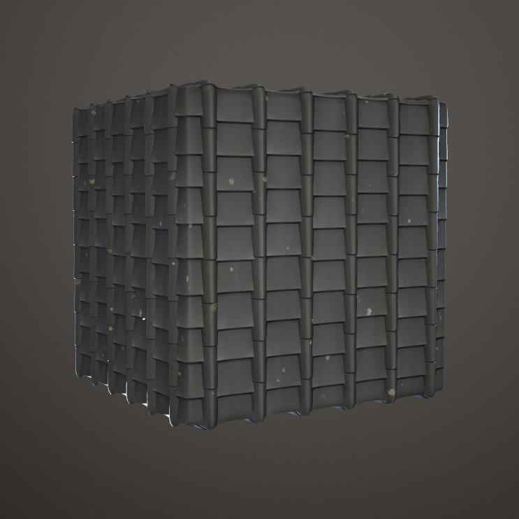Jeff seaman dungeonjapanese rooftile01 cube
