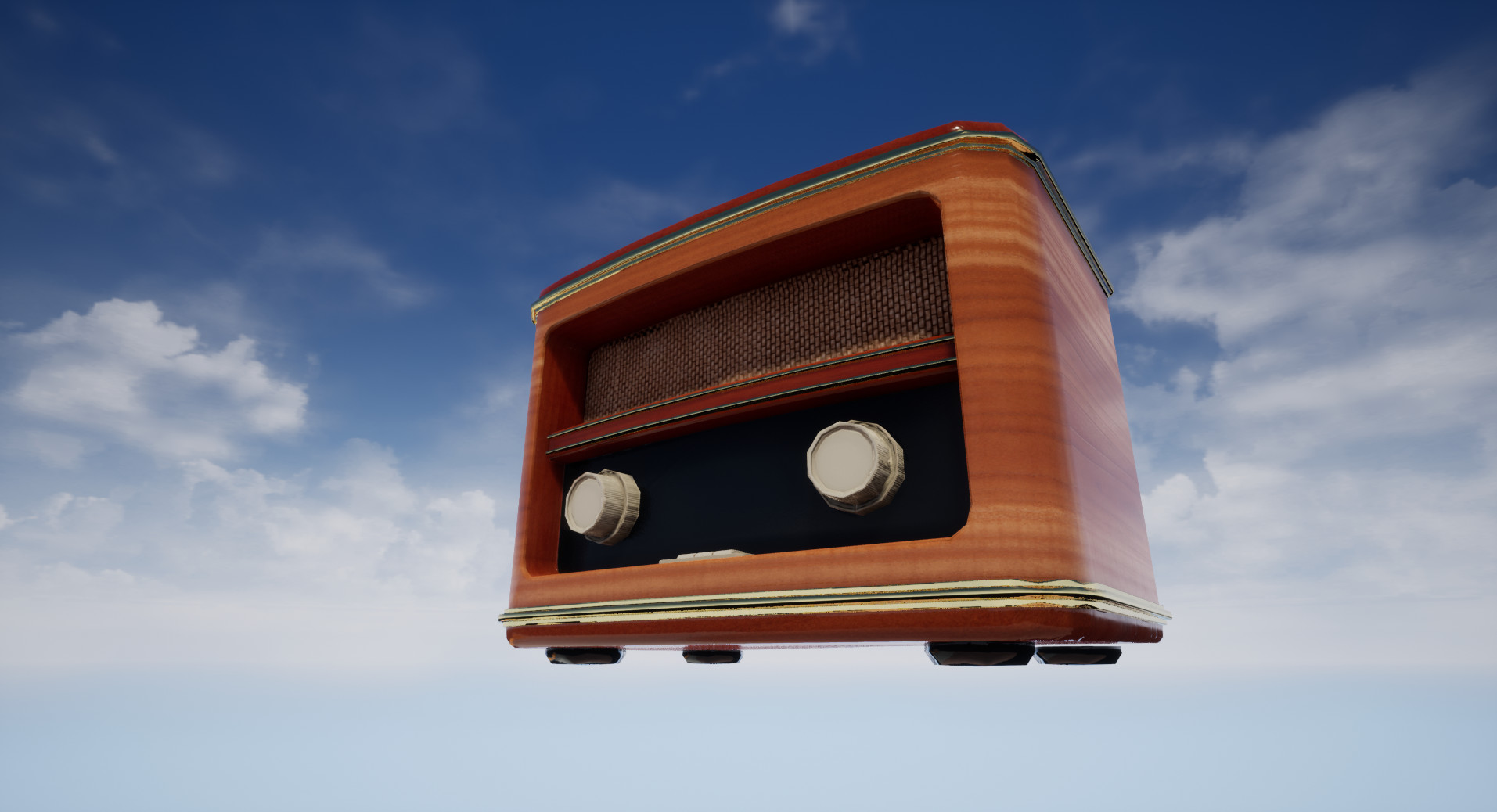 Stella Carrick - Old Radio - Highpoly & Lowpoly
