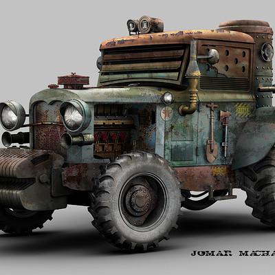 Jomar machado a tractor