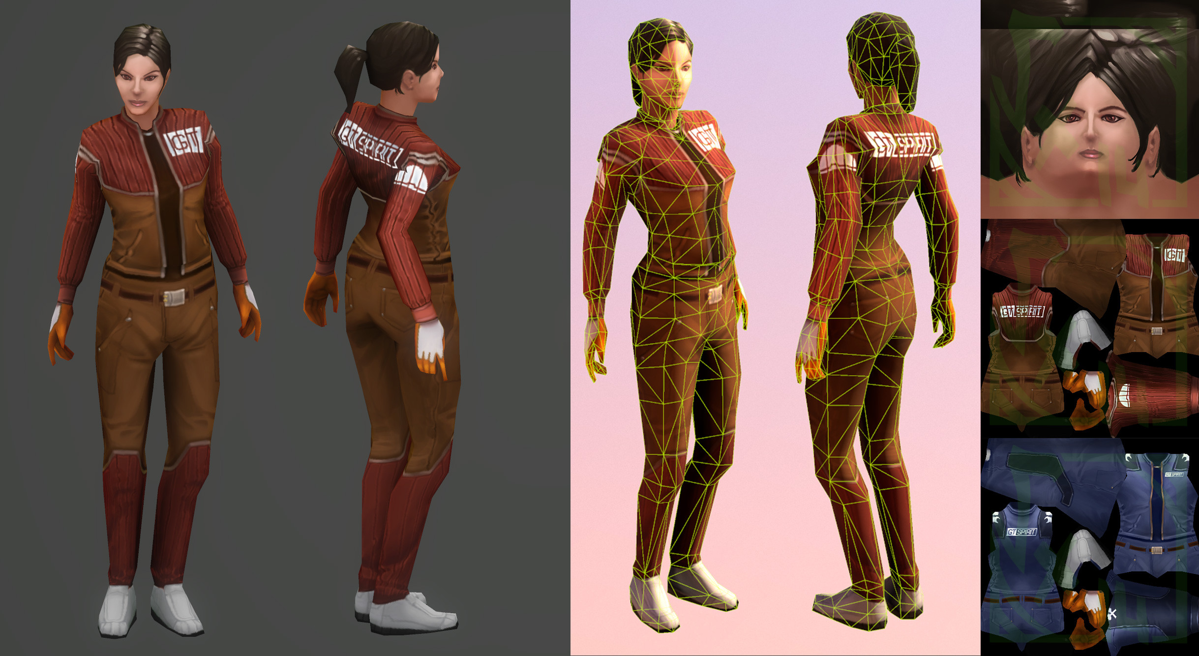 Female Worker, Made with 3dsmax/3DCoat ( Handpainted )