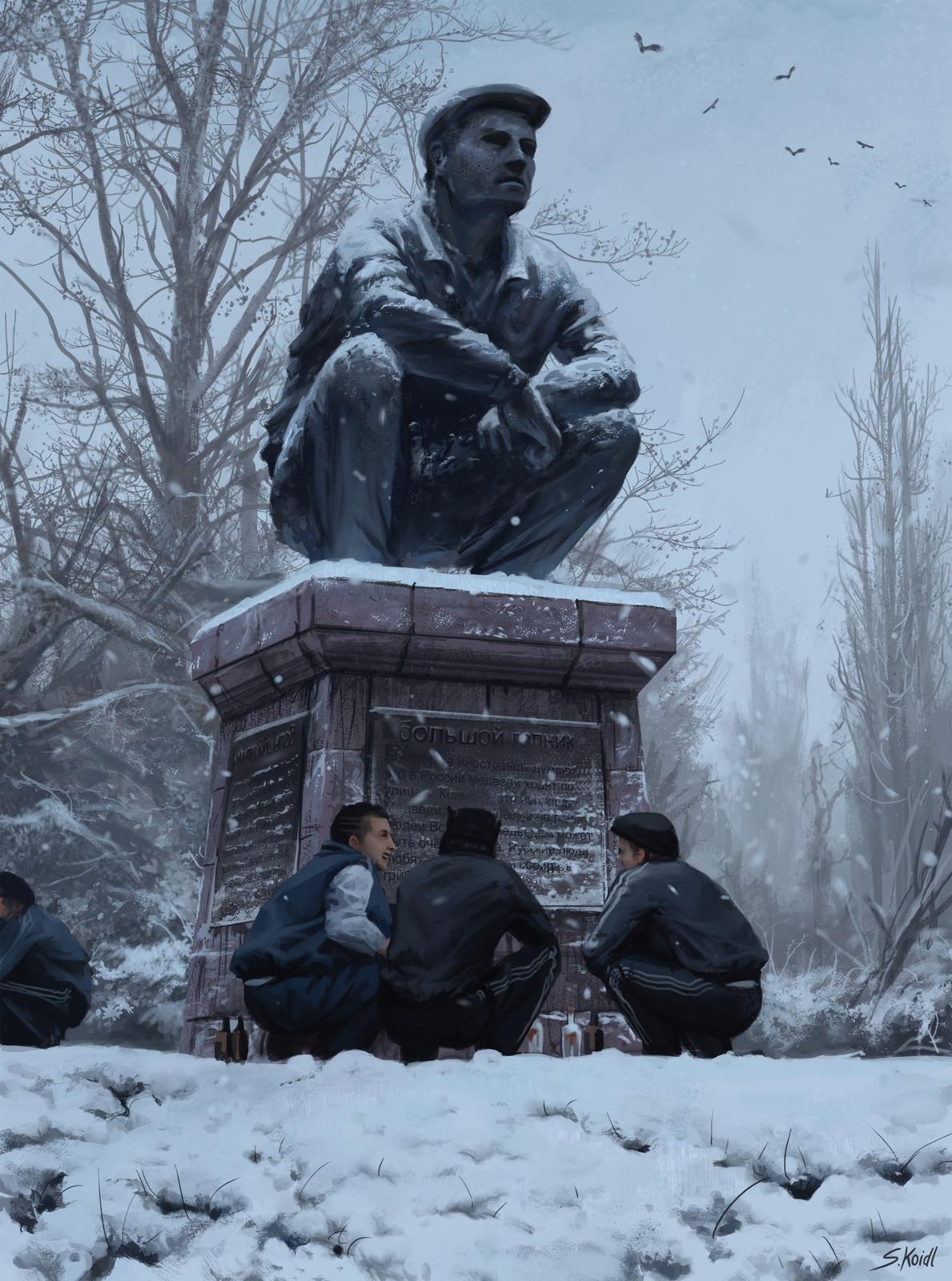 The great gopnik statue