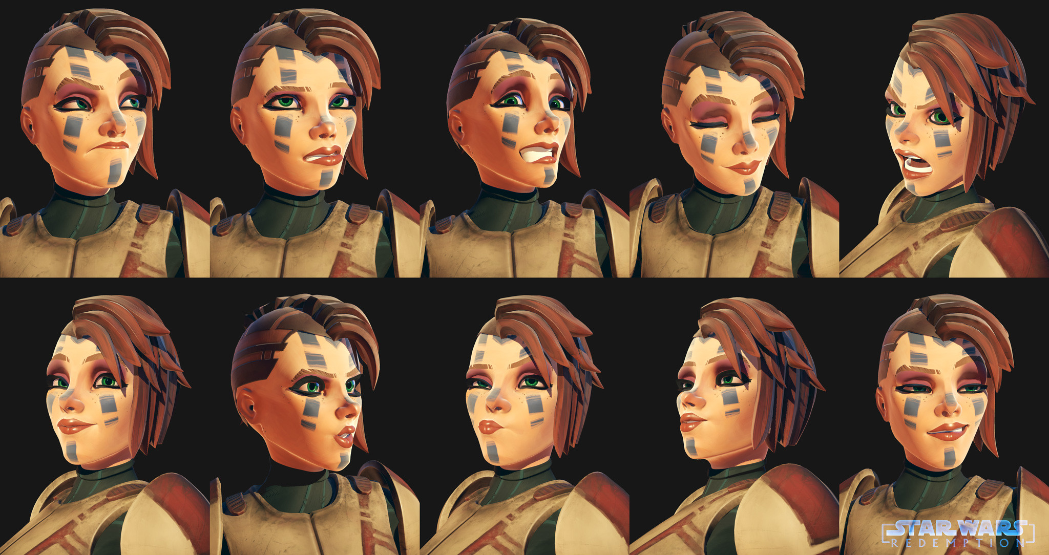 Some Expression Rendered on Marmoset