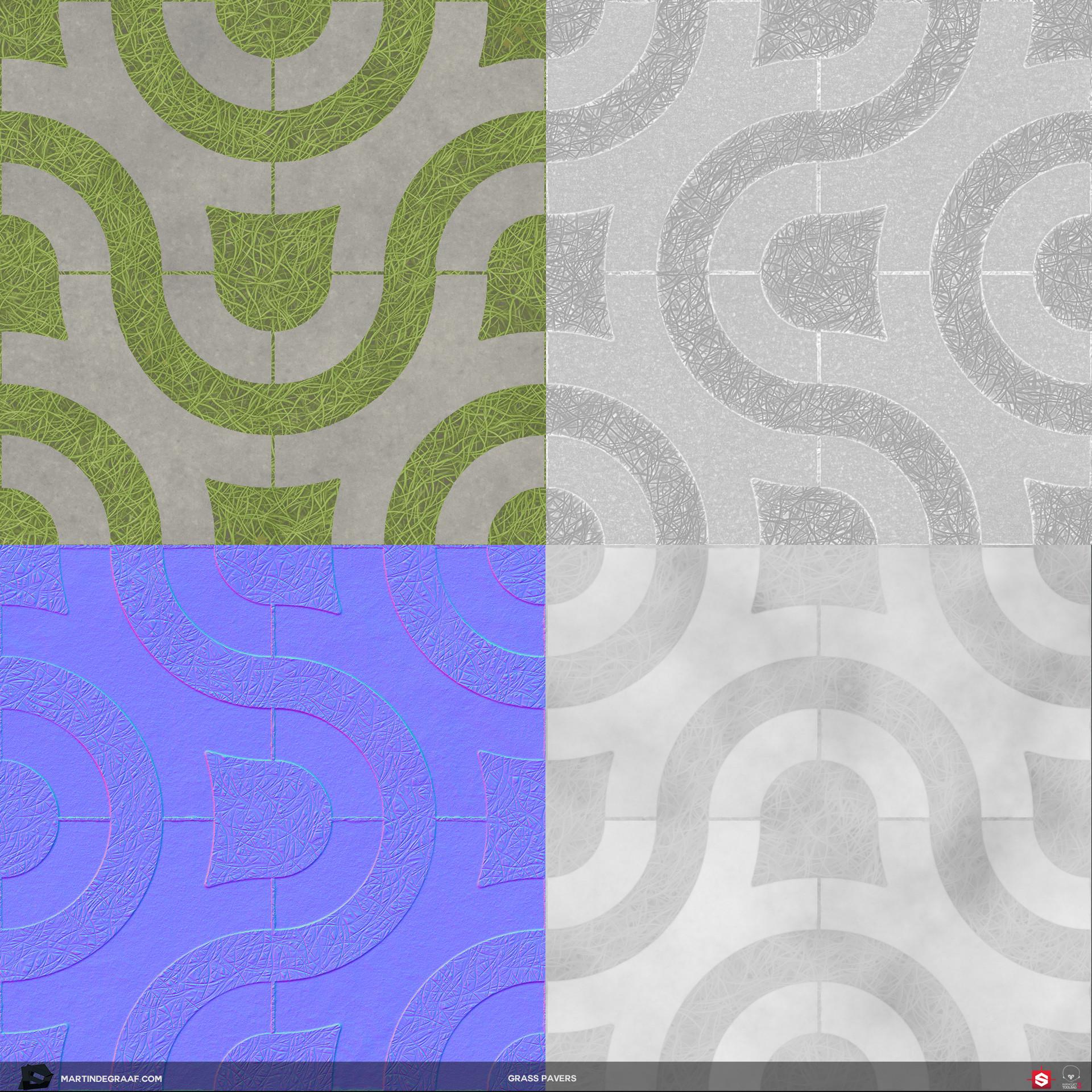 Martin de graaf grass pavers substance texturesheet martin de graaf 2018