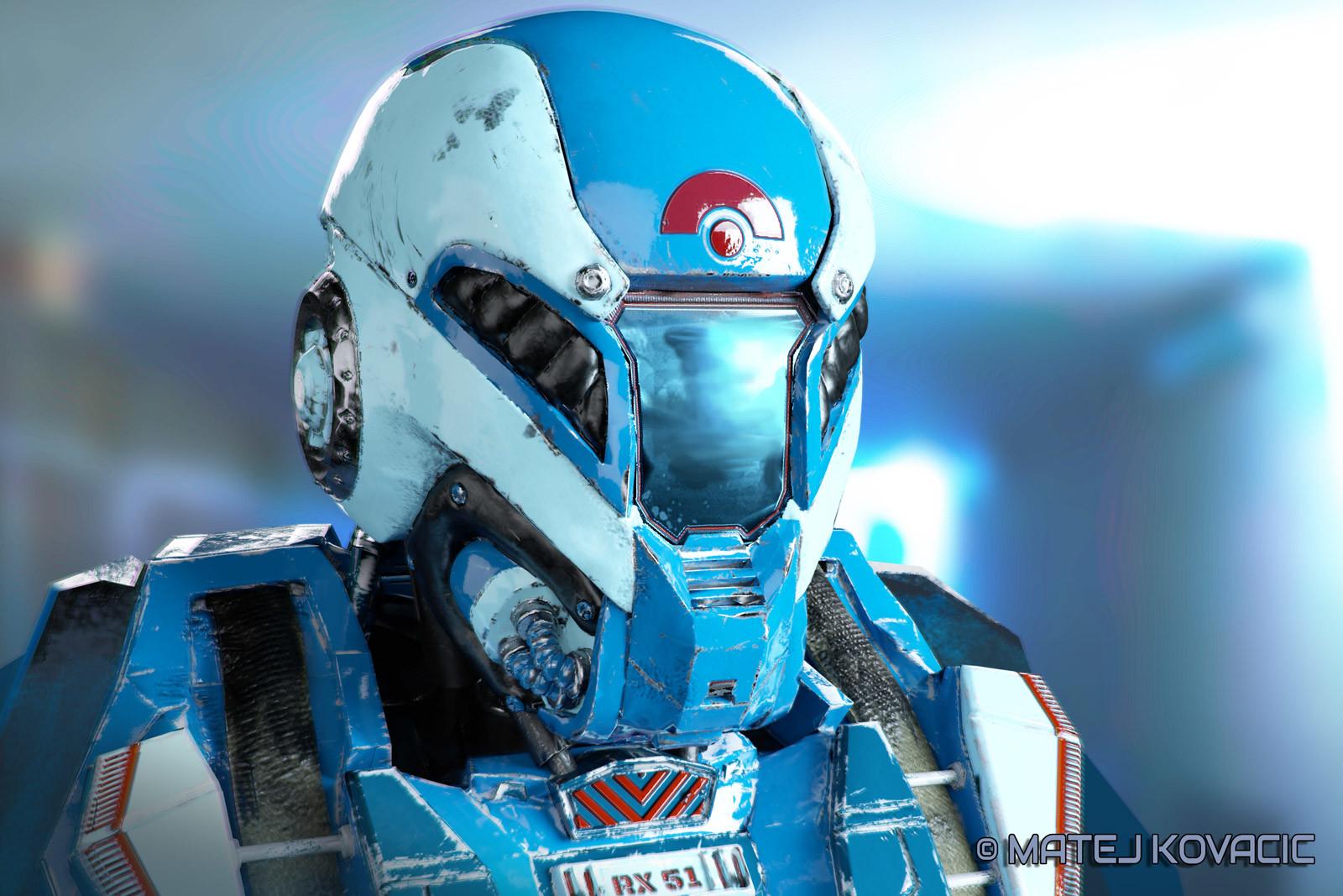 Matej kovacic sci fi helmet rx 51 by matej kovacic
