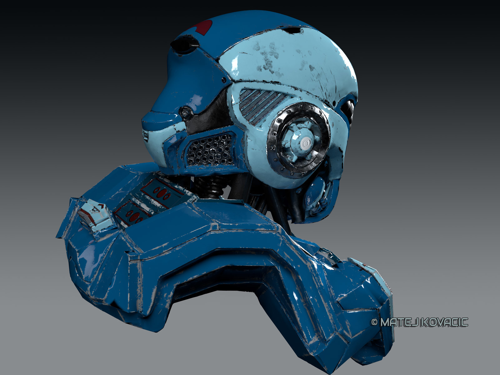 Sci-Fi Helmet RX 51 Cycles Render