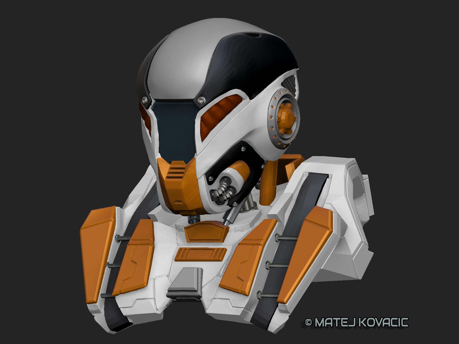 Sci-Fi Helmet RX 51 ZBrush Color