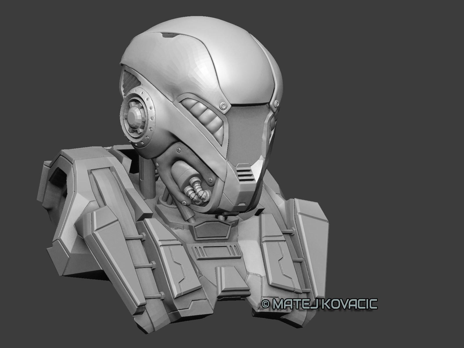 Matej kovacic sci fi helmet rx 51 zb front by matej kovacic