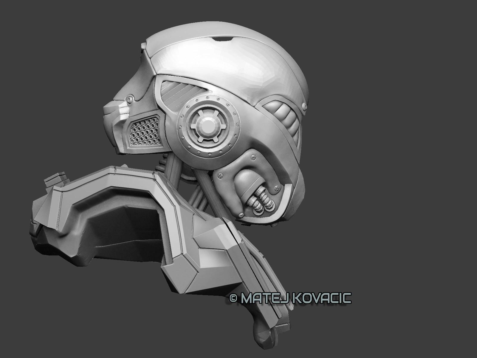 Matej kovacic sci fi helmet rx 51 zb side by matej kovacic