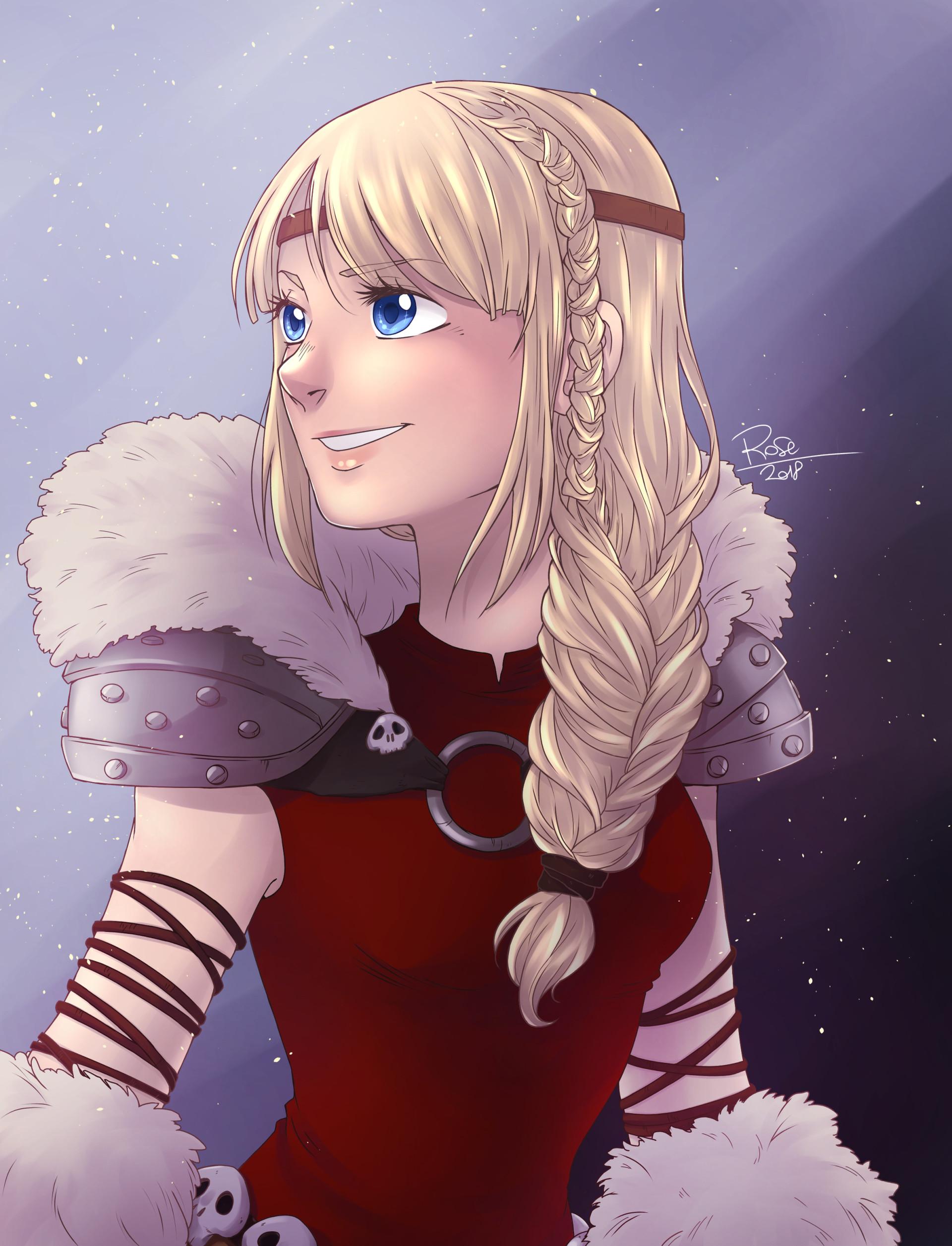 Астрид и викинг арты
