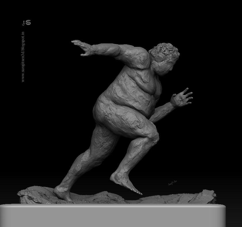 Surajit sen running fat man sculpt wip surajitsen