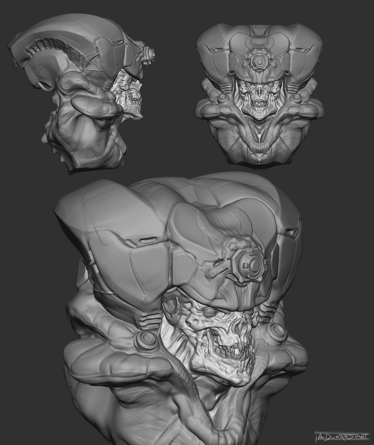 Alan dukardt doom creature sketch