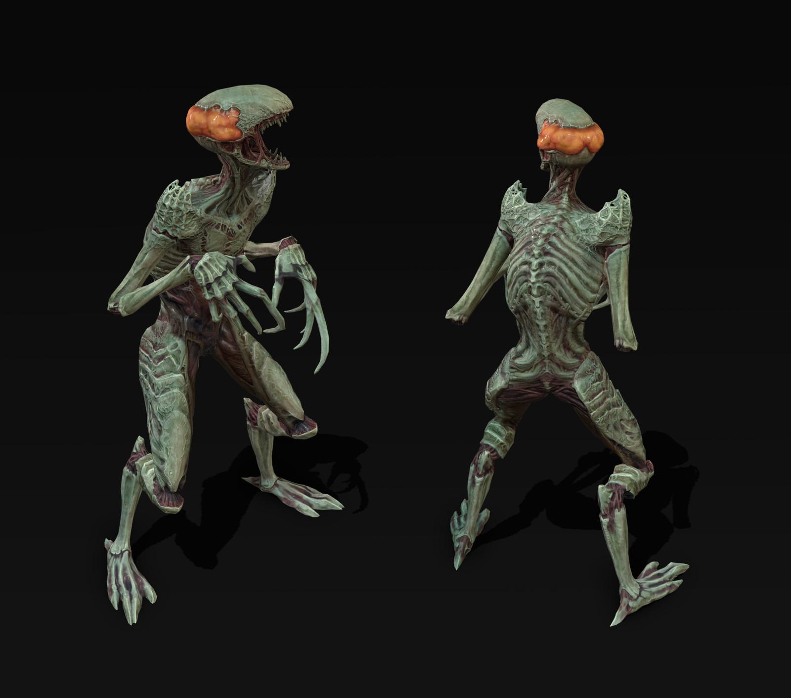 Creature rendered in Toolbag