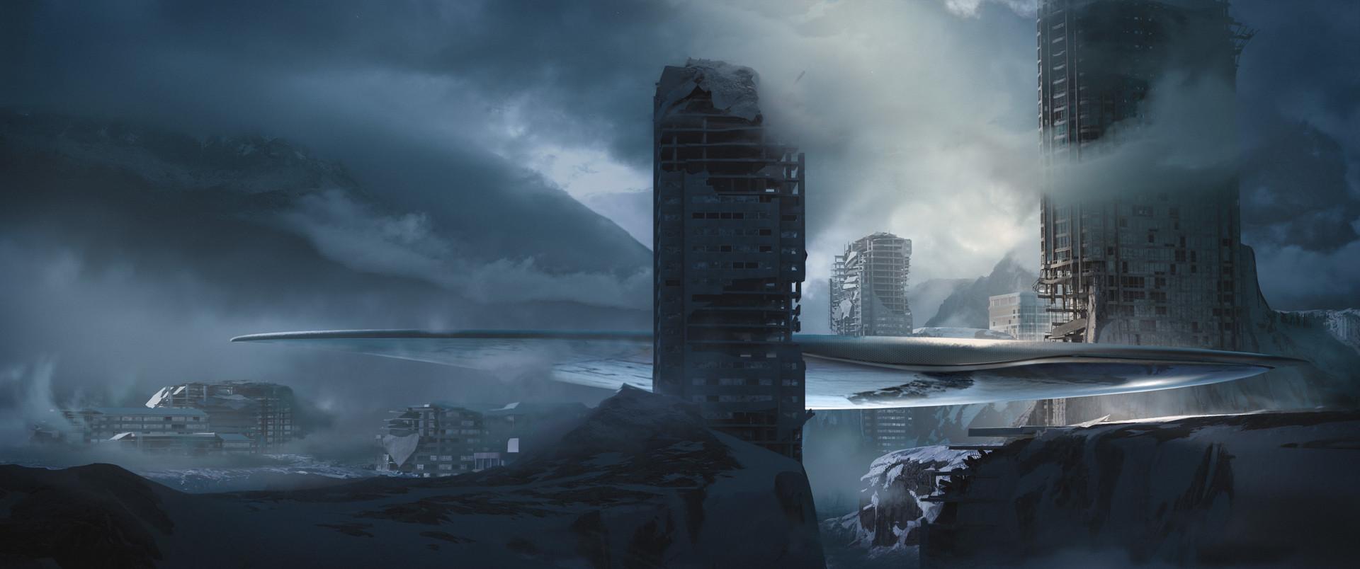 Darius kalinauskas conceptart environmetn scifi abandoned