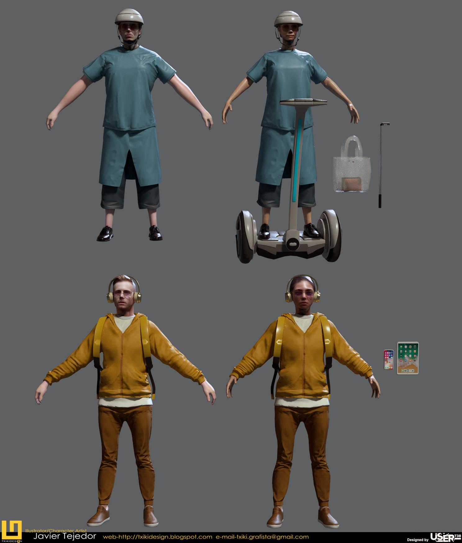 ArtStation - Characters Golf GTI, Javier