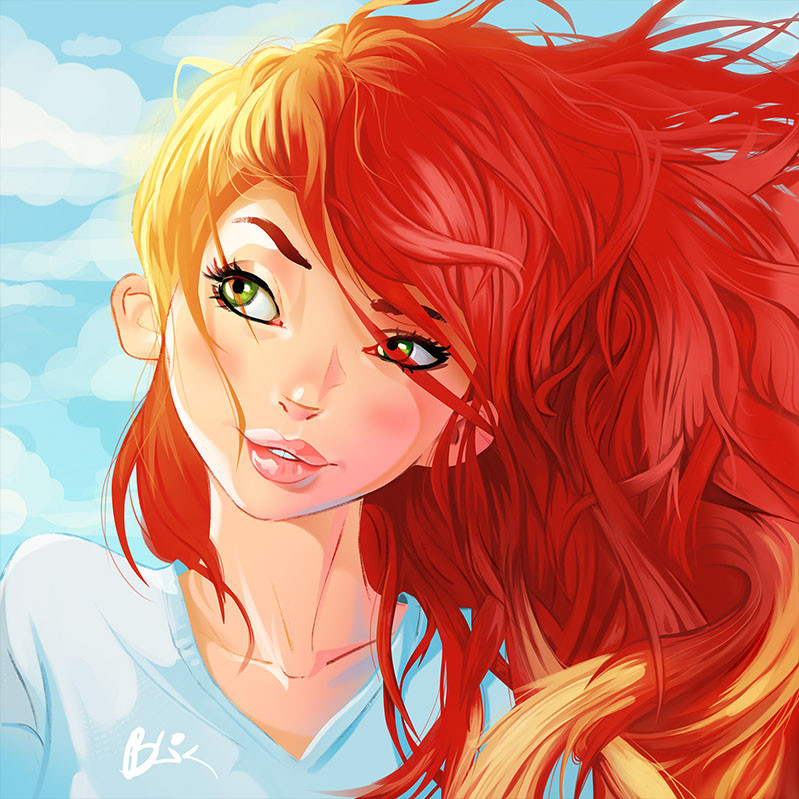 character with red hair