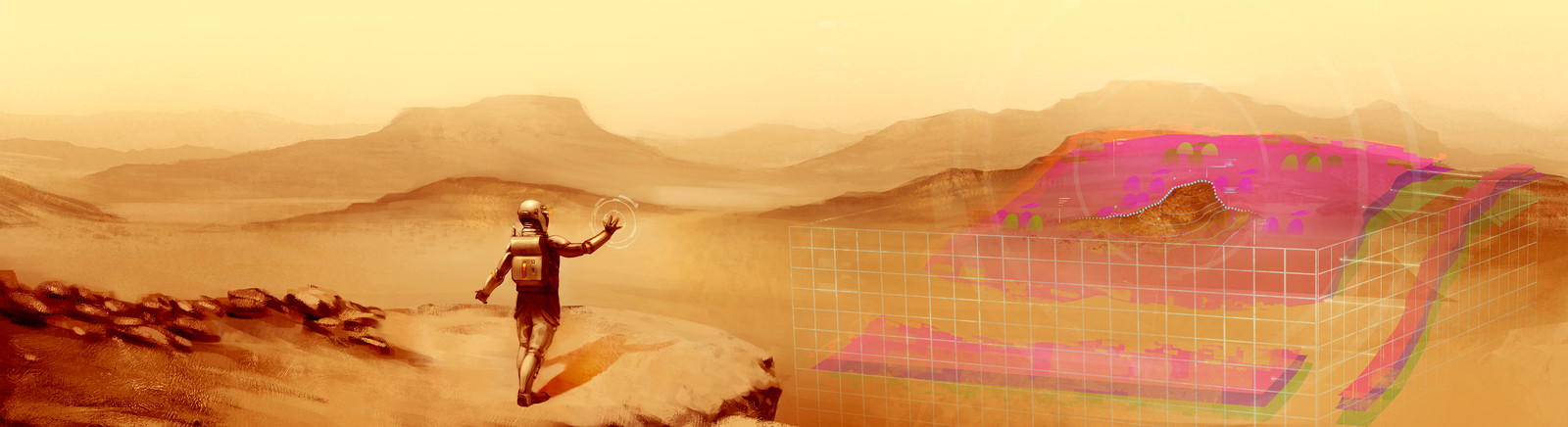 Mars 3D terrain discovery