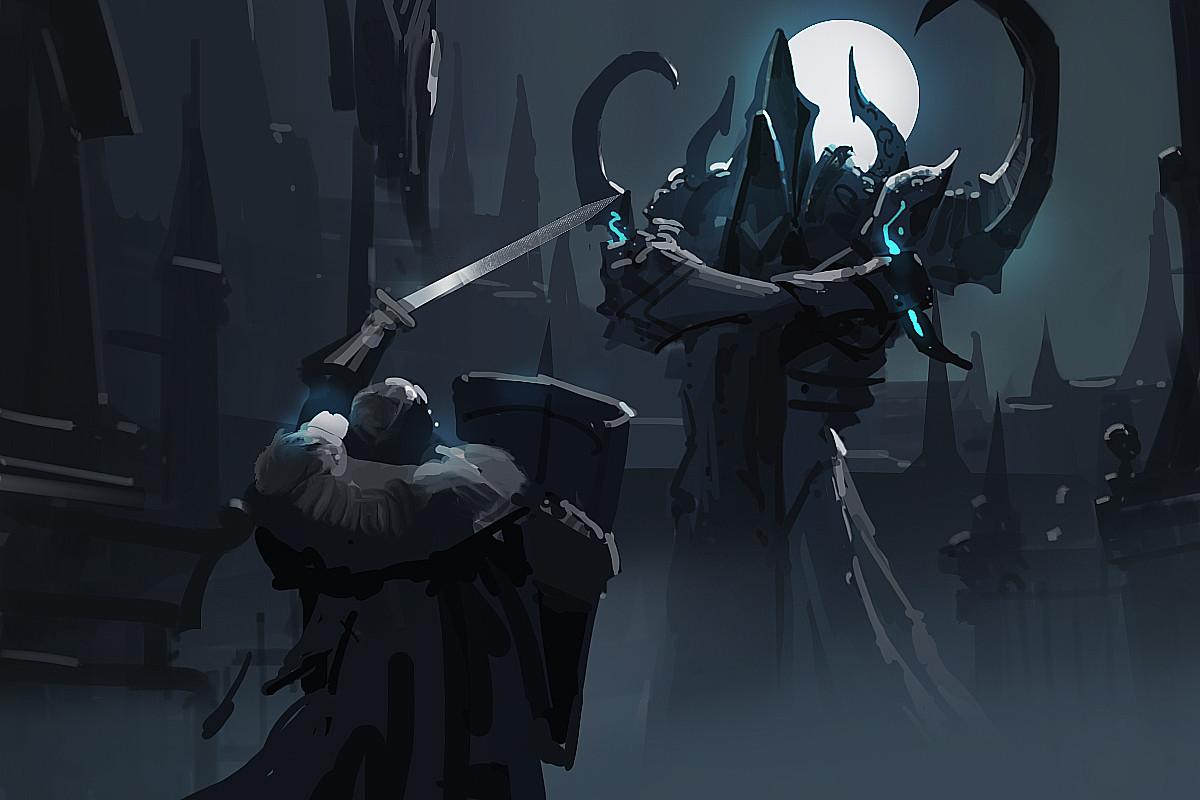 A fan art sketch for Diablo~