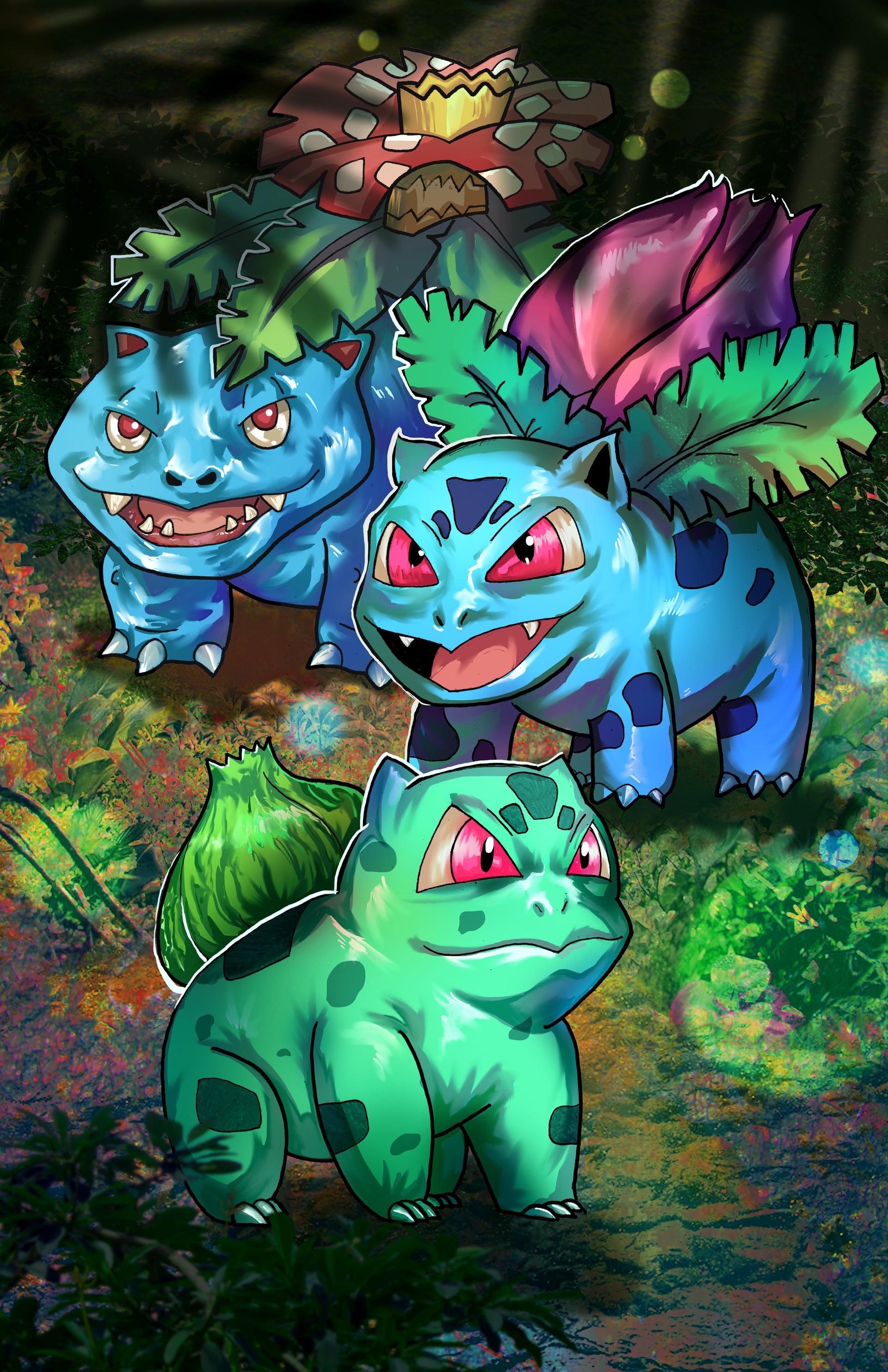 ArtStation - Pokemon bulbasaur evolution, Eugen Betivu