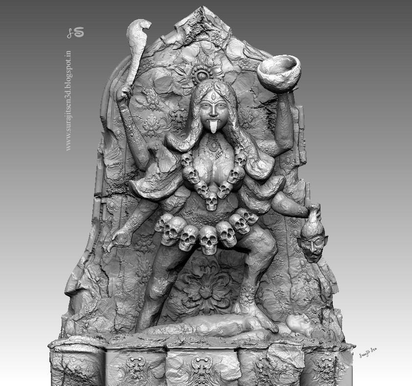"ArtStation - Digital_Sculpt_""Maa Kaali"" by Surajit Sen, Surajit Sen"
