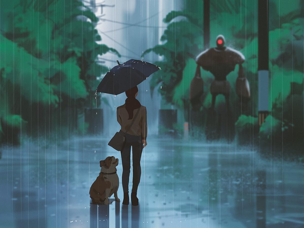 Rainy encounter
