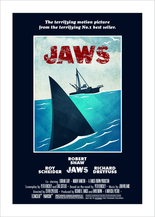 Jaws alternative T-shirt  and Poster Print