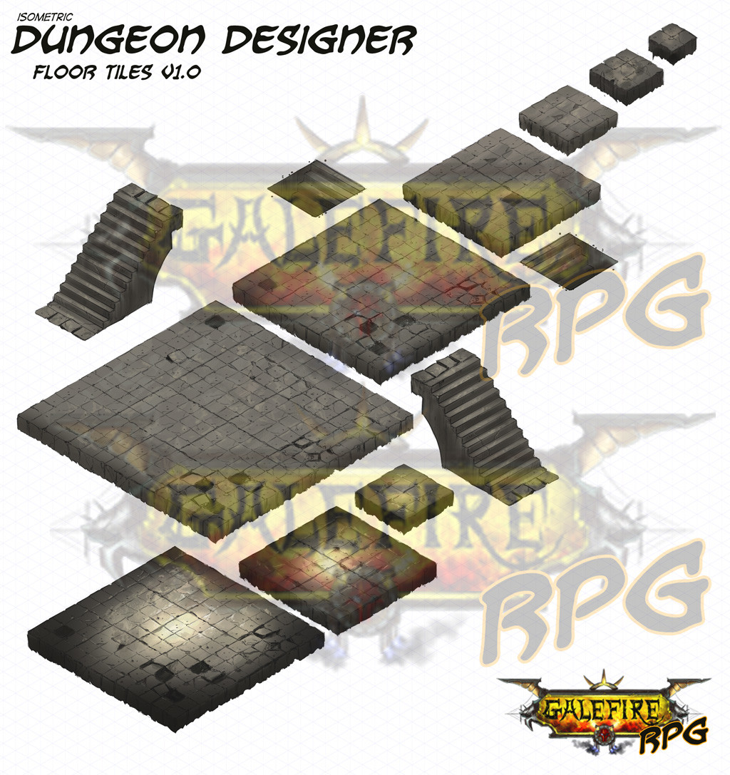 isometric dungeon floors