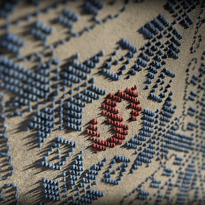 Carla tang substance embroidery wallpaper 04