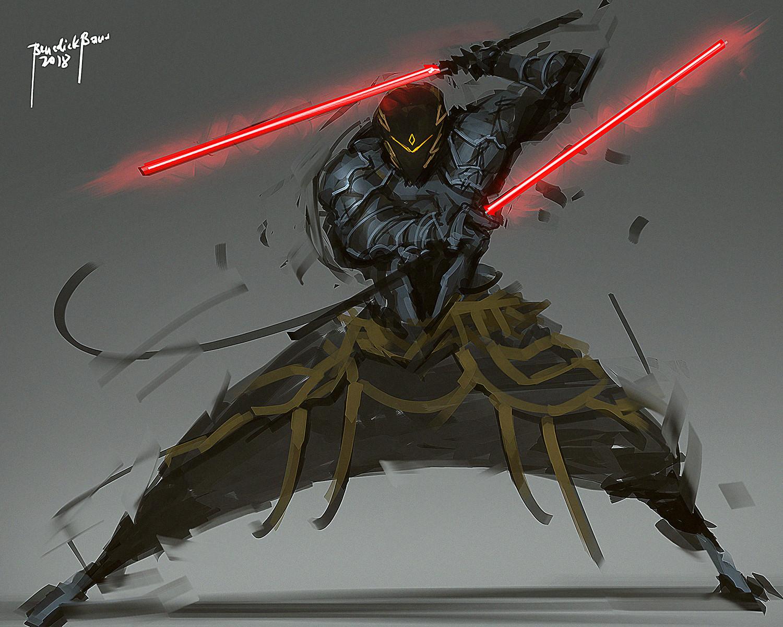 Benedick bana red saber lores