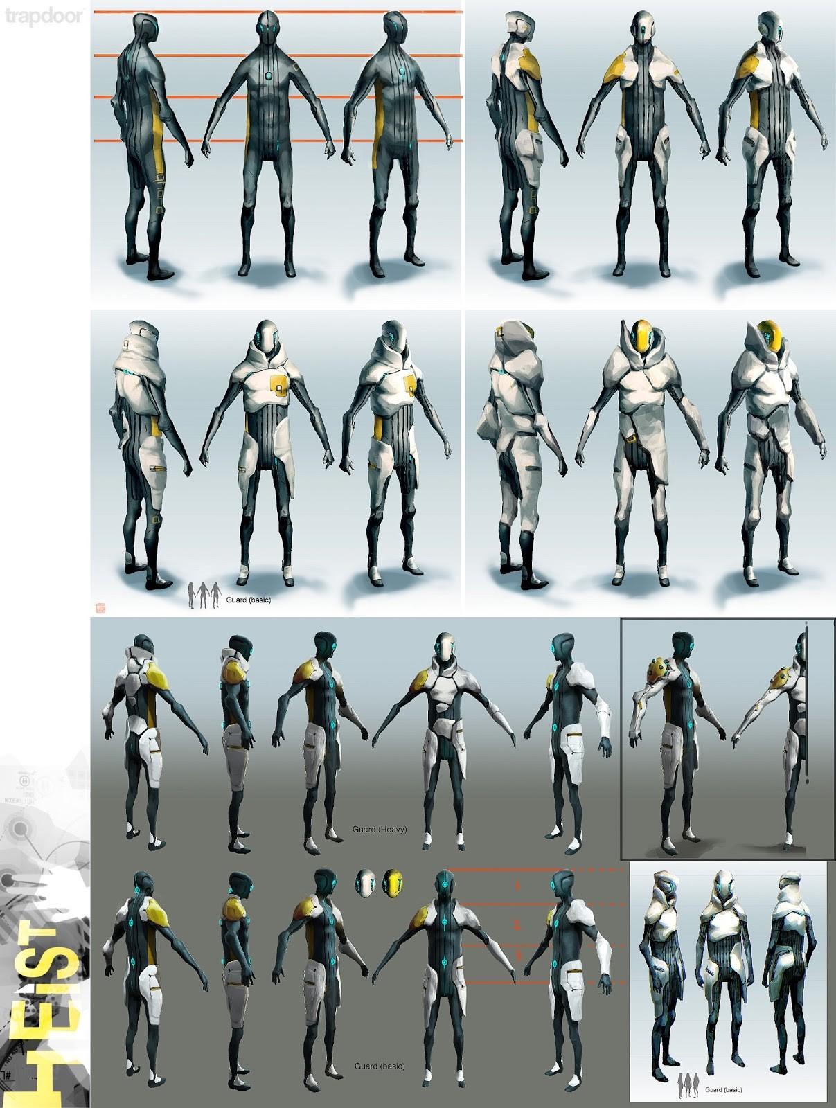 Corporate militia, guard suits (gameplay)...