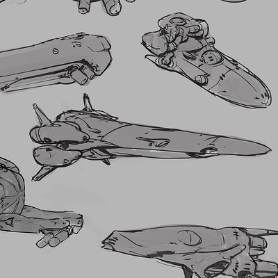 West clendinning spaceship doodles 02