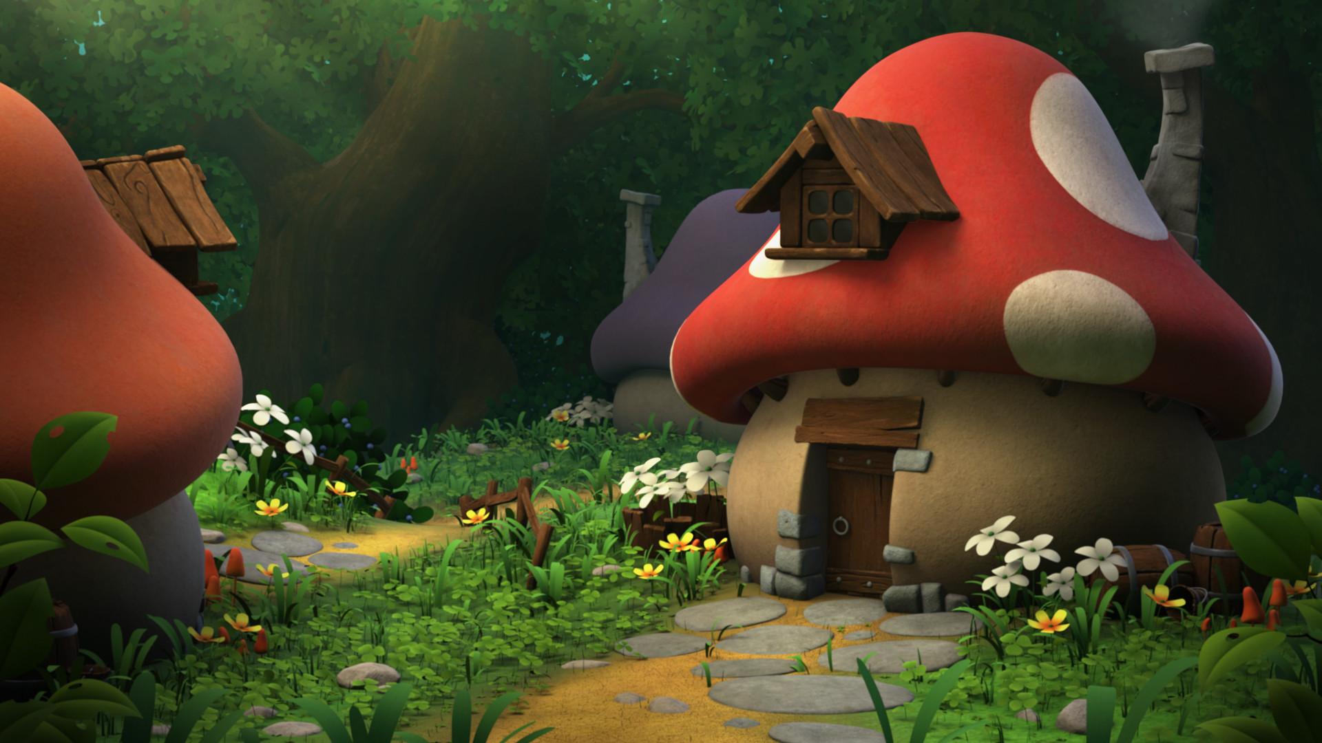 Дом смурфика картинки