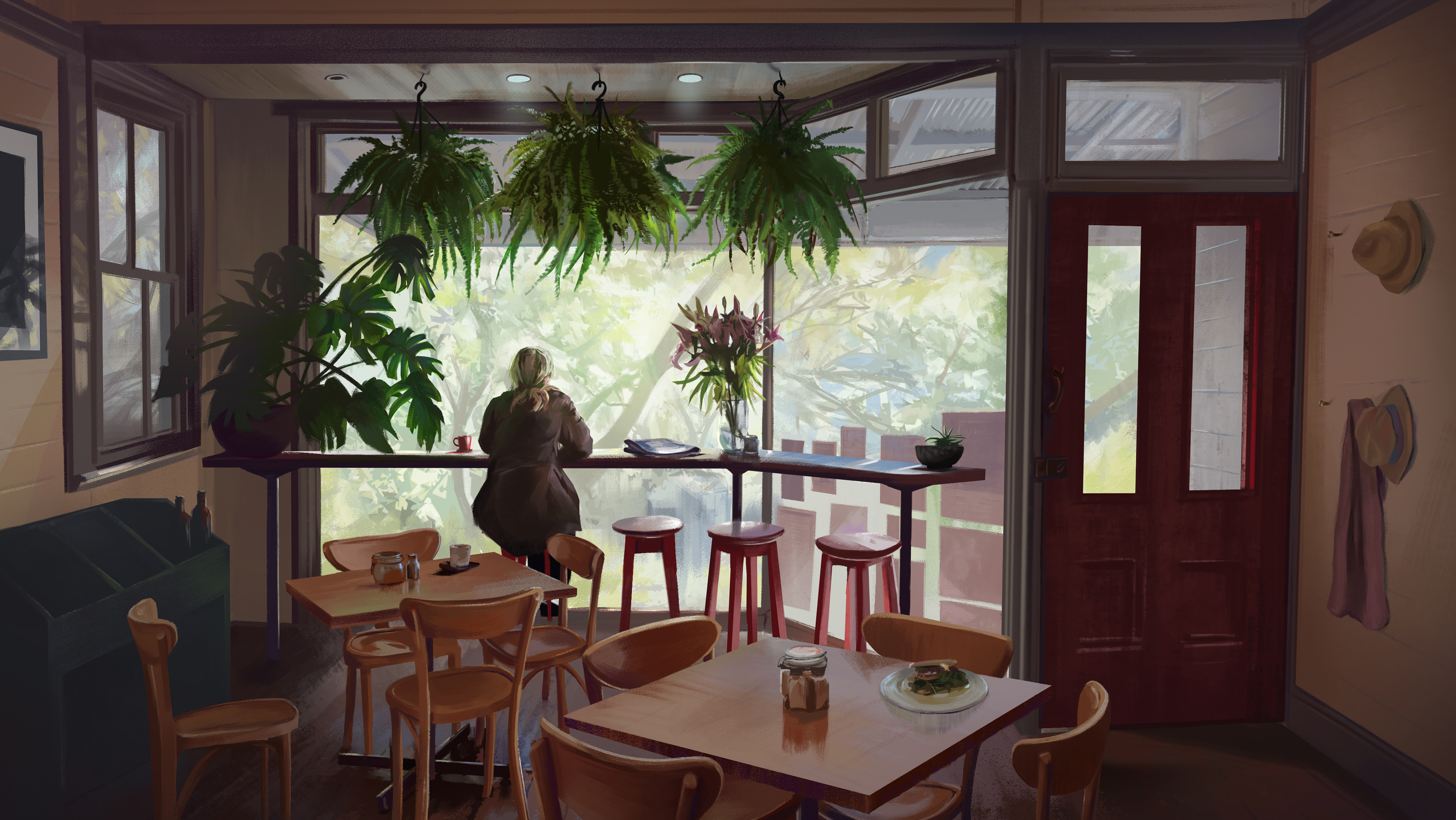 Cafe in the Blue Mountains, Australia.